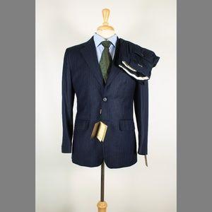 Denis Parkar 36S 29x32 Flat Navy Suit 97-Y